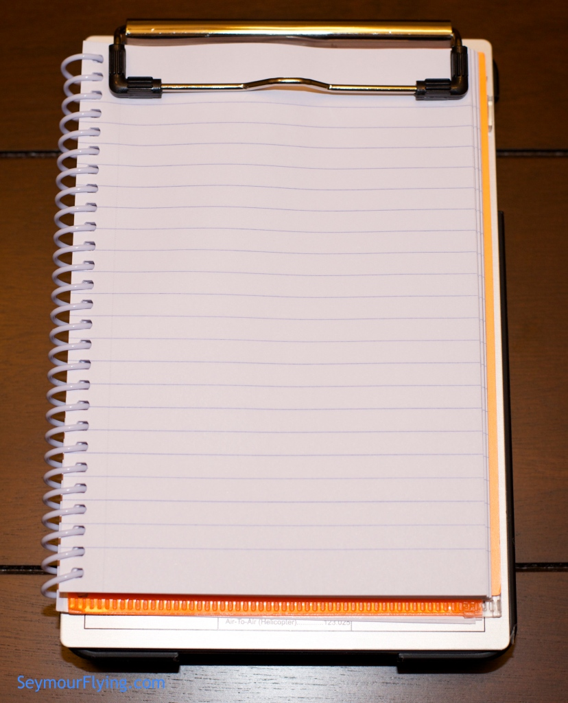 Clipboard with notebook
