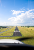 Approach to Runway 2 at FYM